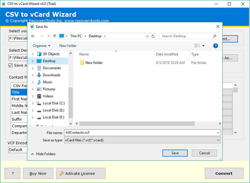 How to Convert CSV to vCard Windows Along with Contact
