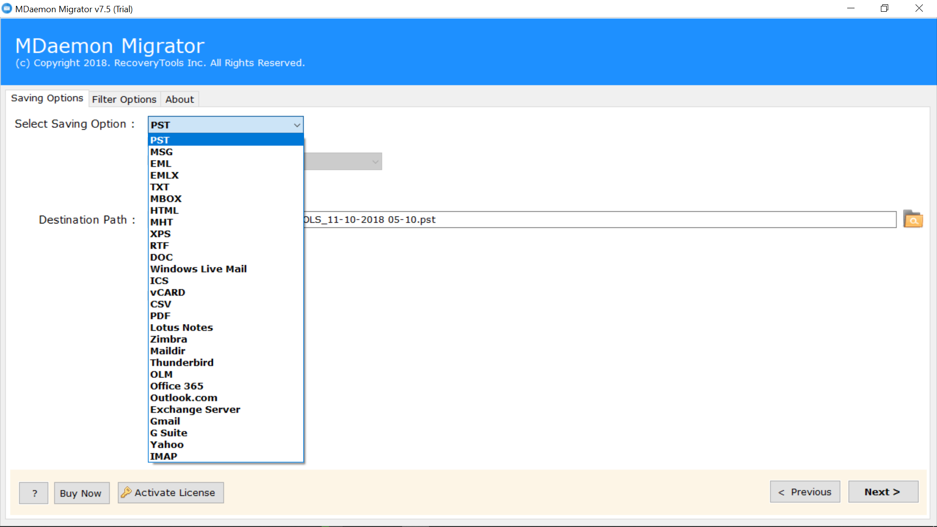 MDaemon Converter to Export MDaemon to PST, PDF, MBOX, MSG & More
